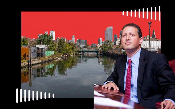 City Council member Brad Lander and the Gowanus canal (Getty; City Council)