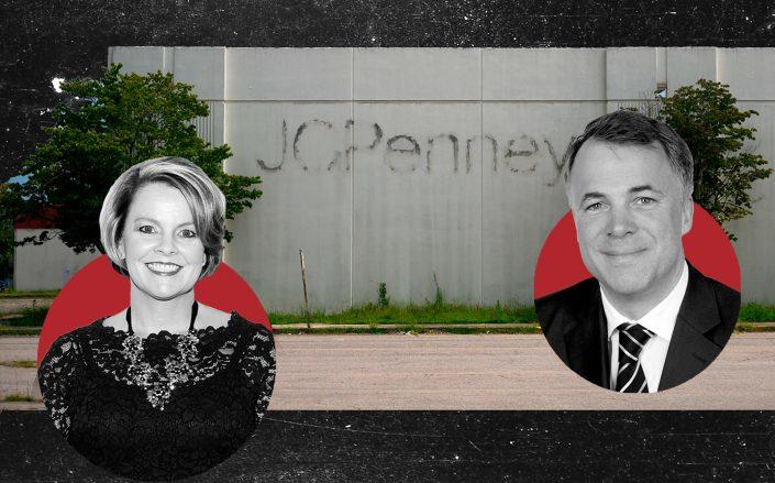 J.C. Penney CEO Jill Soltau and Aurelius Capital Management CEO Dirk Markus (Getty; Wikipedia Commons)
