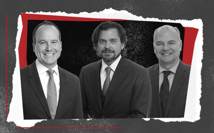 Brock Emmetsberger, Tom Gammino and Will Suarez (JLL)