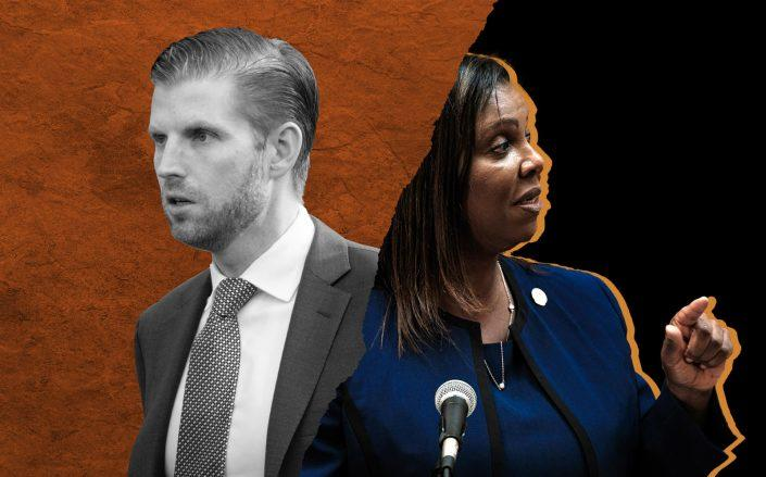 Eric Trump and New York Attorney General Letitia James (Getty)