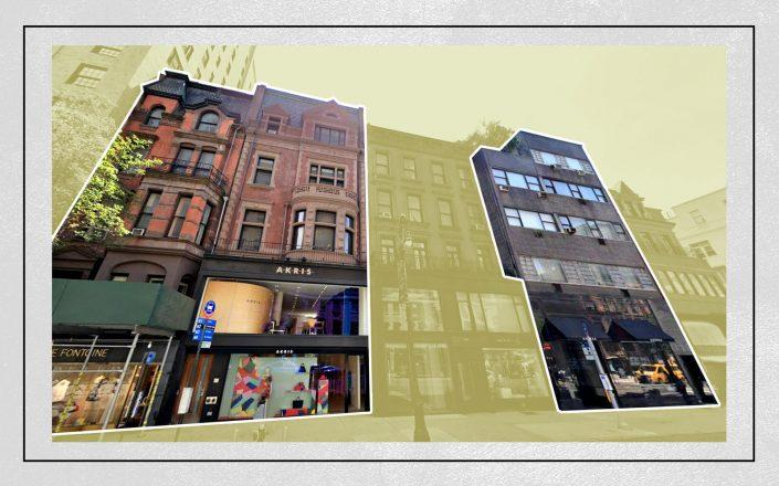 Right to left: 831, 835 and 837 Madison Avenue (Google Maps)