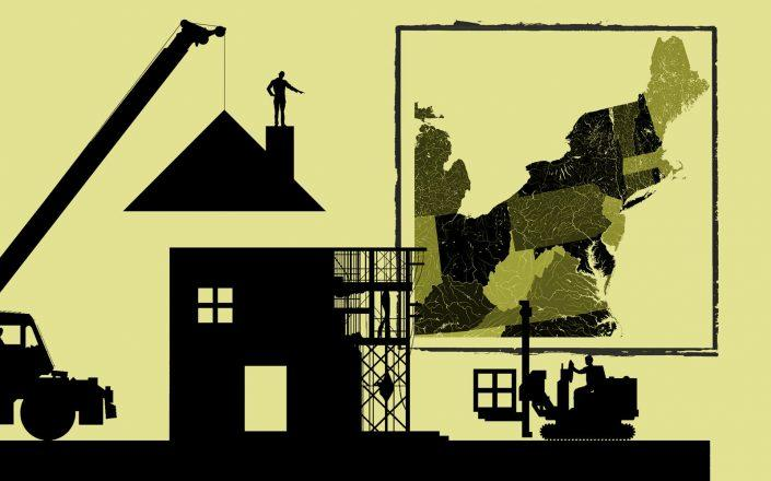 The Northeast is driving gains in building permits and housing starts (iStock)