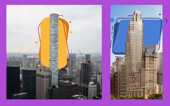 432 Park Avenue and 25 Park Row (Getty; iStock; COOKFOX)