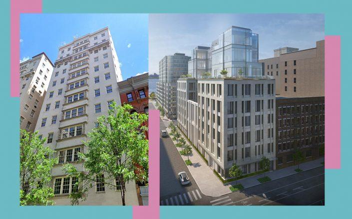 823 Park Avenue and 601 Washington Street (Photos via Google Maps; 601 Washington)
