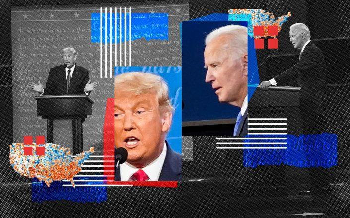 President Donald J. Trump and Democratic presidential candidate Joe Biden participate in the final Presidential debate (Getty)