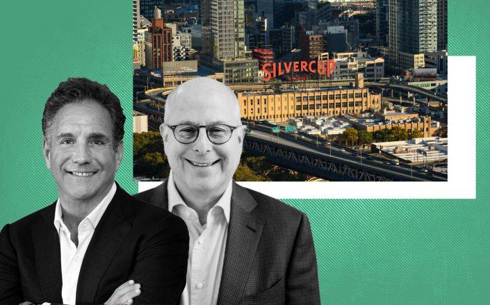 Square Mile Capital's Craig Solomon and Hackman Capital Partner's Michael Hackman with Silvercup Studios at 42-22 22nd Street in Long Island City (Hackman; Silvercup Studios)