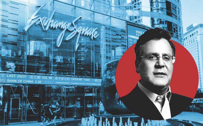 GDS CFO Daniel Newman and the Hong Kong Stock Exchange (Getty)