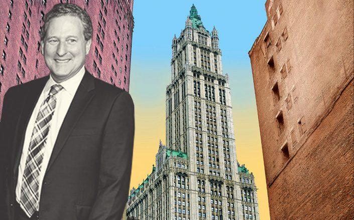 Alchemy Properties President Kenneth Horn and the Woolworth Building (Getty)