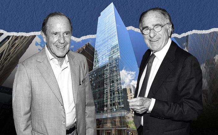 Mort Zuckerman and Harry Macklowe with 510 Madison Avenue (Getty, Google Maps)