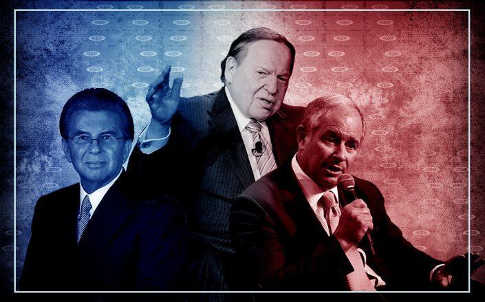 George Marcus, Sheldon Adelson and Stephen Schwarzman (Marcus & Millichap, Getty)