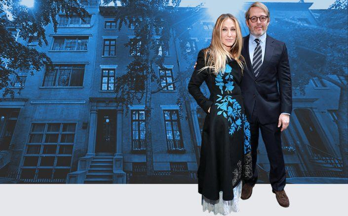 Sarah Jessica Parker and Matthew Broderick with 20 East 10th Street (Getty, Google Maps)