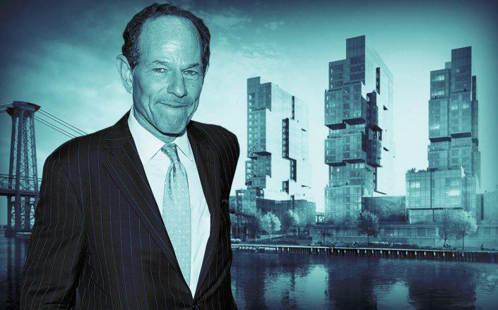 Eliot Spitzer and 420 Kent Avenue (Getty)
