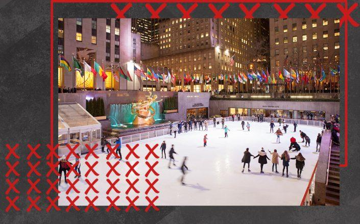 The skating rink at Rockefeller Center (Getty)