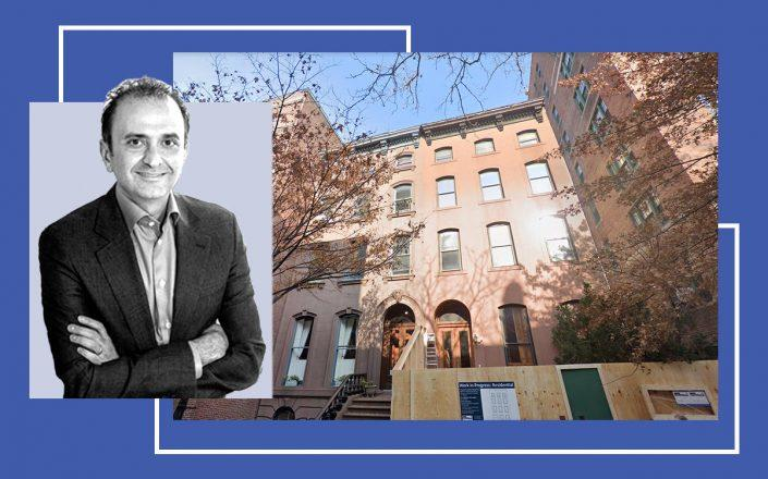 Behzad Aghazadeh and the Brooklyn townhouse (Photos via Avoro Capital and Google Maps)