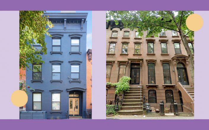 176 North 6th Street and 16 South Portland Avenue in Brooklyn (StreetEasy; Google Maps)
