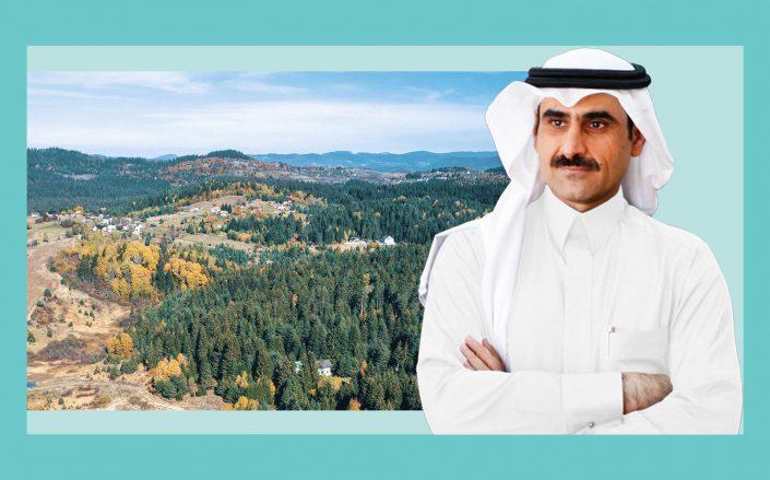Dar Al Arkan chairman Yusuf bin Abdullah Al-Shalash and the development site (Dal Al Arkan)