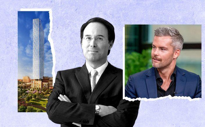 Brooklyn Point, Extell's Gary Barnett and Ryan Serhant (Getty; KPF; Extell Development)