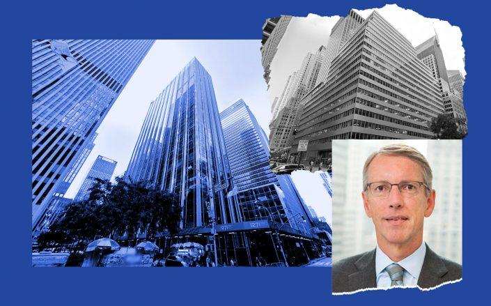 1271 Sixth Avenue and 300 Park Avenue (right) with Greenhill & Co. CEO Scott Bok (Photos via Google Maps; Greenhill)