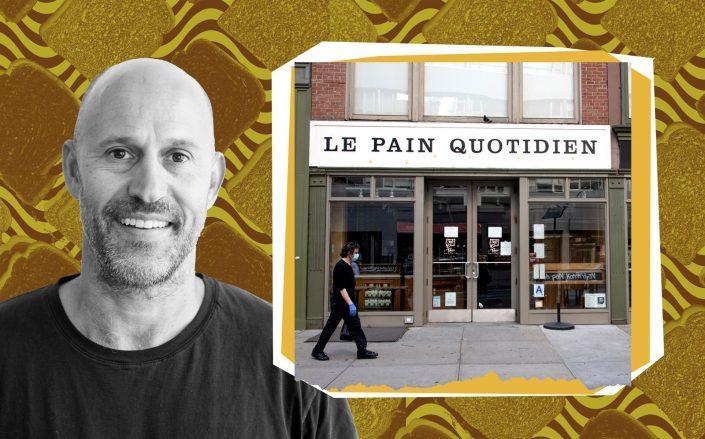Aurify Brands Co-CEO John Rigos and Le Pain Quotidien (Getty; JAB Brands)