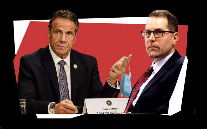 Gov. Andrew Cuomo and City Council member Mark Levine (Getty; City Council)