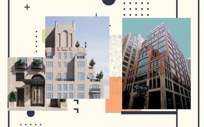 Renderings of 1045 Madison Avenue and 7 Hubert Street (Photos via The Benson; StreetEasy)