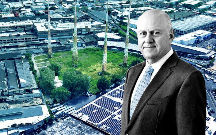48-00 Grand Avenue in Maspeth and Prologis CEO Hamid Moghadam (Google Maps; Prologis)
