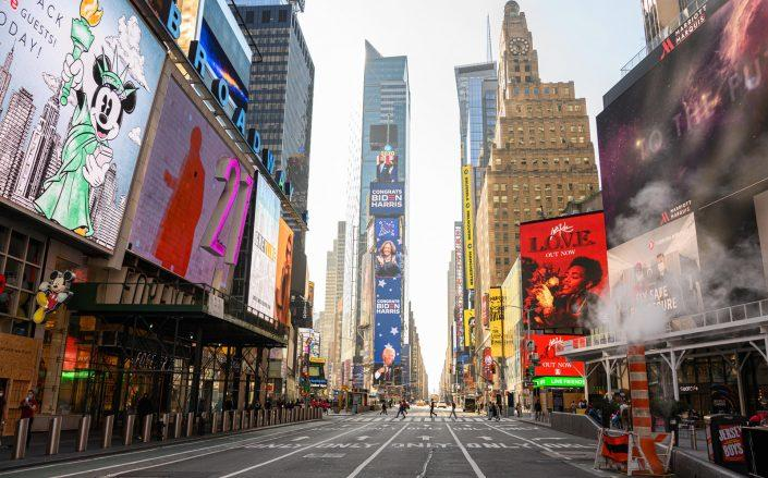 NYC & Company projects tourism to reach only one-third of last year's number, with just 22.9 million visitors expected this year. (Getty)