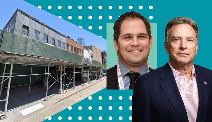The assemblage at 547-557 and 559-589 Fulton Street, RedSky Capital's Benjamin Bernstein and Steve Witkoff (Google Maps; ICSC; Witkoff)