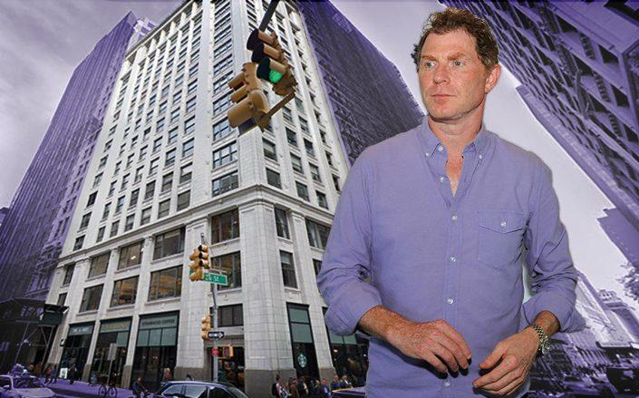 Bobby Flay and 1140 Broadway (Getty, Google Maps)