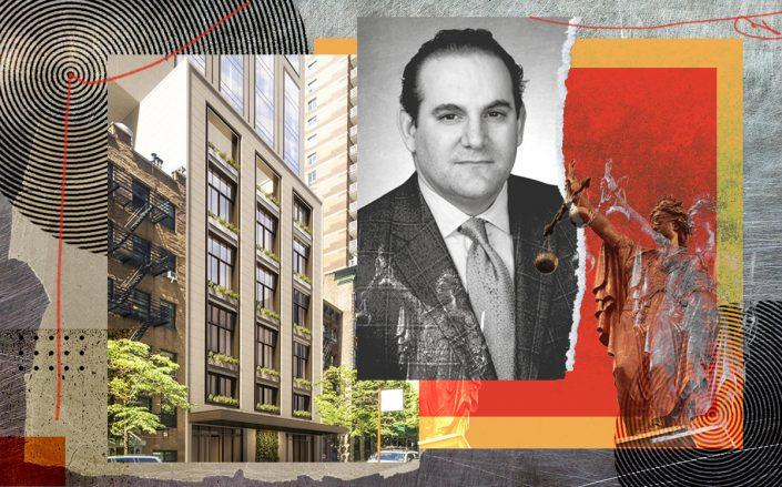 Jonathan Kalikow and a rendering of 3 Sutton Place