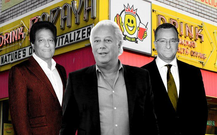 Ziel Feldman, Aby Rosen, Sharif El-Gamal, and an iconic New York hot dog restaurant top the years juiciest lawsuits. (Getty, Papaya King)