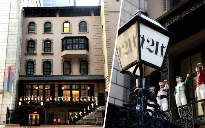 21 Club at 21 West 52nd Street (Photo via Wikipedia Commons; Getty)