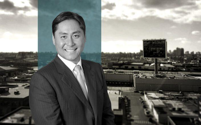 Innovo Property Group's Andrew Chung and the LIC property. (IPC)