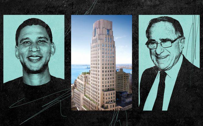From left: Compass CEO Robert Reffkin, 1 Wall Street and Macklowe Properties chairman Harry Macklowe (Getty; Macklowe Properties)