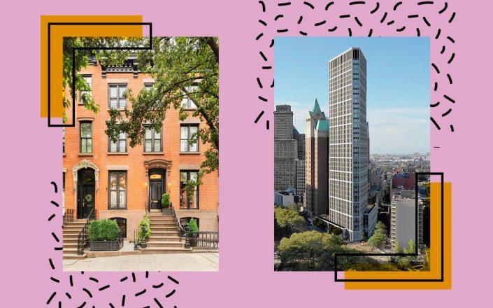 From left: 292 Hicks Street and 1 Clinton Street in Brooklyn (Photos via StreetEasy and 1 Clinton BK)
