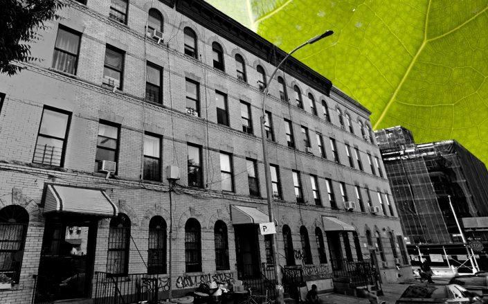 75 Linden Street is one of the houses being retrofitted with eco-friendly designs in Brooklyn. (Getty, Google Maps)