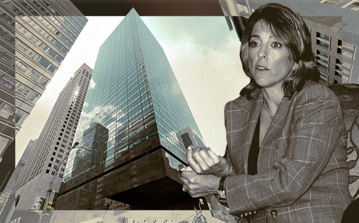 590 Madison Avenue and Corcoran Group CEO Pam Liebman (Google Maps, Getty)