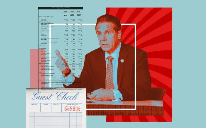 Gov. Andrew Cuomo (Getty, iStock, NY State Budget)