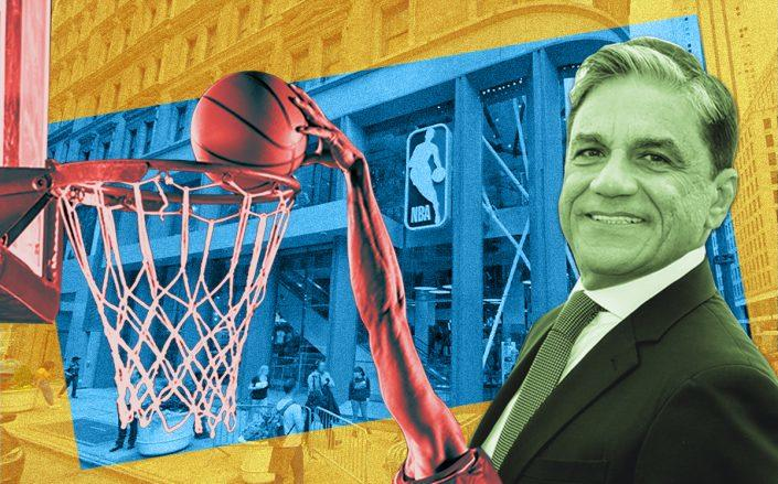 Joseph Moinian and the NBA Store at 545 Fifth Ave. (Google Maps, iStock)