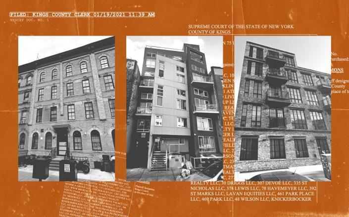 From left: 527 Knickerbocker Avenue, 392 St Marks Avenue, 82 Jefferson Street in Brooklyn (Google Maps)