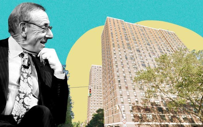 Related's Stephen Ross and 265-275 Cherry Street (Google Maps; Getty)