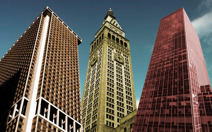 One New York Plaza, One Madison Avenue and 605 Third Avenue top the list of largest real estate loans. (Brookfield, Wikimedia Commons, Fisher Brothers)