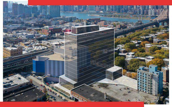A rendering of the site at 41-50 21st Street in Long Island City (Rendering via FX Collaborative)