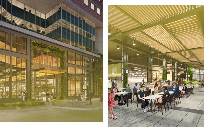 Interior and exterior renderings courtesy of Urbanspace.