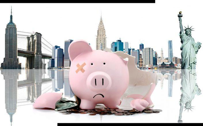 New York's Independent Budget Office thinks a slump in tax revenue will last until 2023 (iStock)