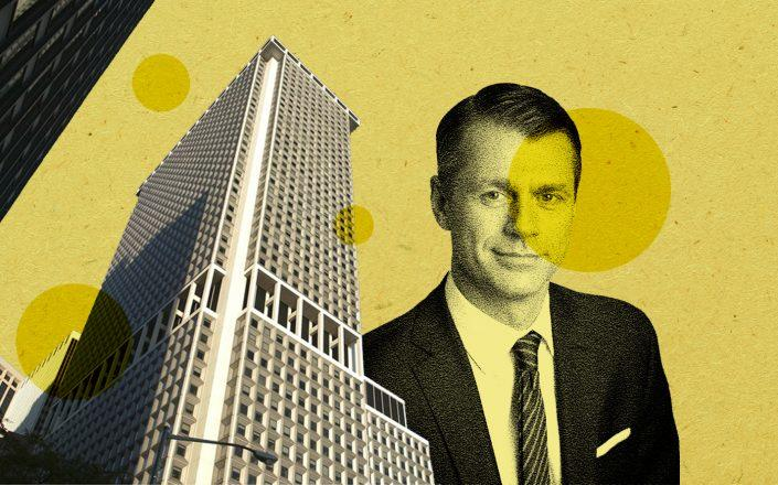 One New York Plaza and Brookfield Property Partners CEO Brian Kingston (Photos via Brookfield)