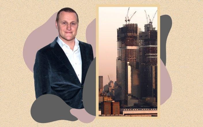 Tishman Speyer CEO Rob Speyer and The Spiral as seen on January 21, 2021 (Photos via Getty Images; Illustration by Kevin Rebong)
