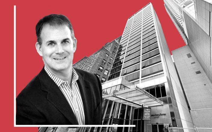 325 West 33rd Street and Magna Hospitality CEO Robert Indeglia (Google Maps; Magna Hospitality)