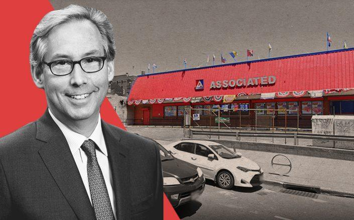 Midwood Investment and Development CEO Josh Usdan and Associated Supermarket at 975 Nostrand Avenue (Google Maps)