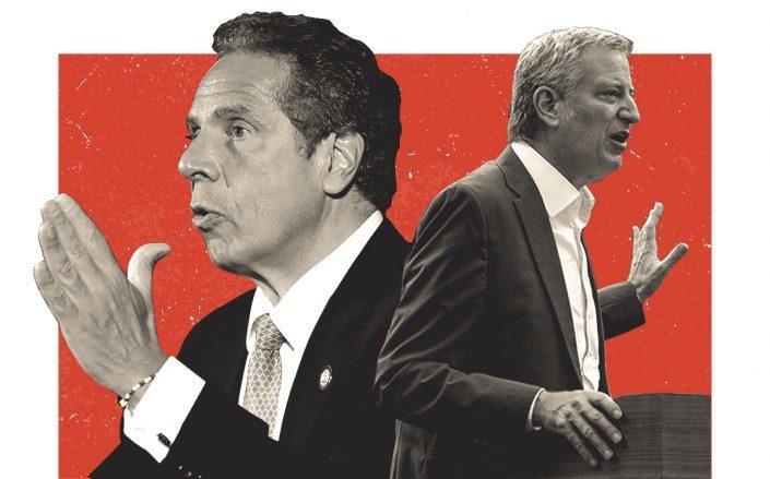 Governor Andrew Cuomo and Mayor Bill de Blasio (Getty)